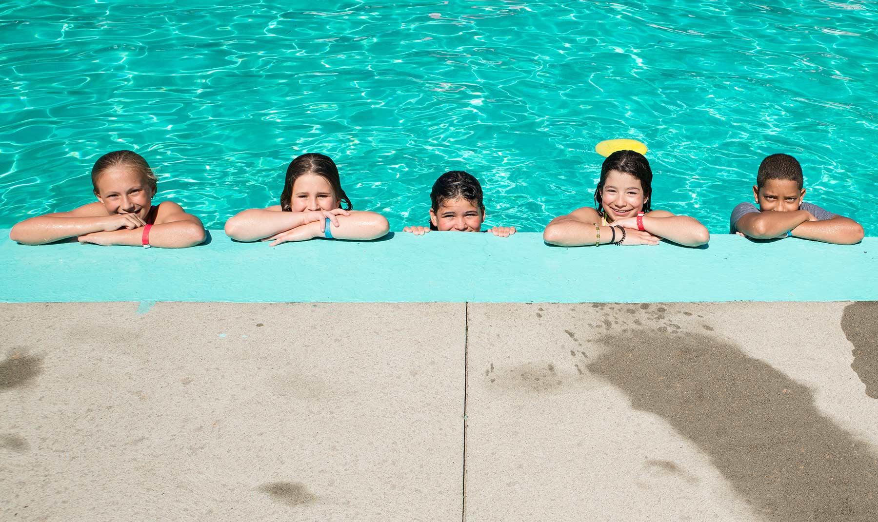 swimming at Camp Ramsbottom