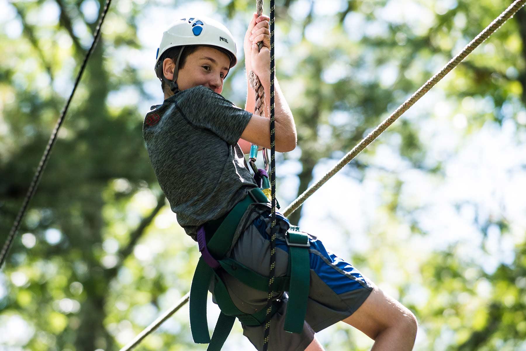 climbing at Camp Ramsbottom