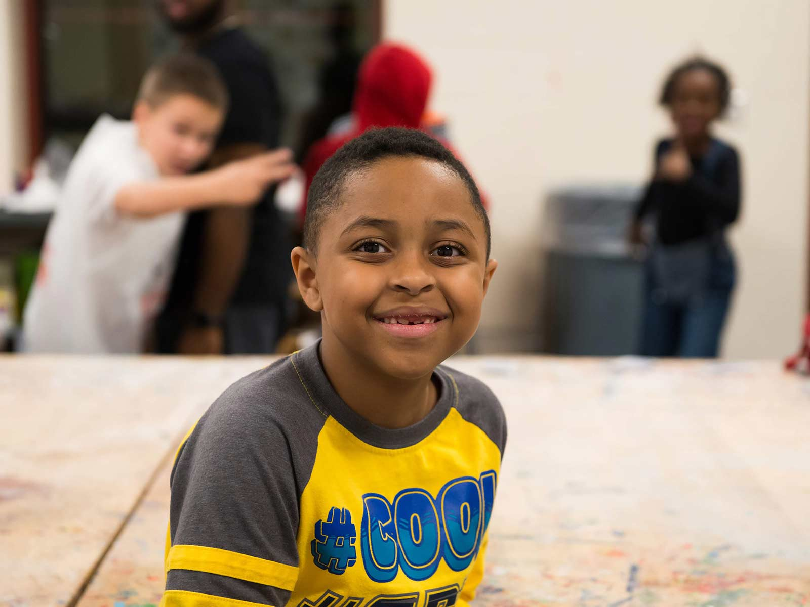 young boy at Boys & Girls Club of Pawtucket